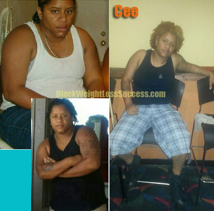 Cee lost 36 pounds Black Weight Loss Success