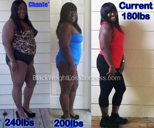 Chante' lost 60 pounds | Black Weight Loss Success