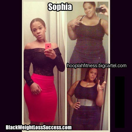 ... : Sophia has lost a total of 95 pounds | Black Weight Loss Success