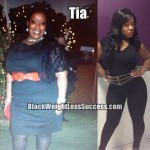 Tia lost 107 pounds