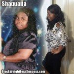 Shaqualla lost 109 pounds with weight loss surgery