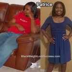 Patrice lost 85 pounds