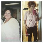 Amber lost 147 pounds