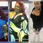 Preneice went from a size 22/24 to a size 14